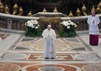 Aus der Osterbotschaft von Papst Franziskus